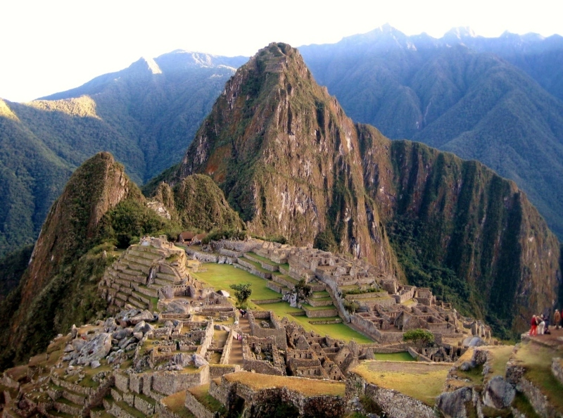 The silent city of Machu Picchu at sunrise.