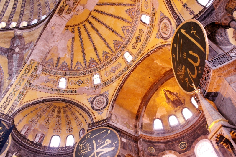 A cathedral, mosque and now a museum, the Hagia Sophia is a beautiful depiction of Istanbul's layered history.