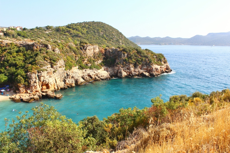 The beautiful cove of Büyükçakil Beach is just a short walk from downtown.