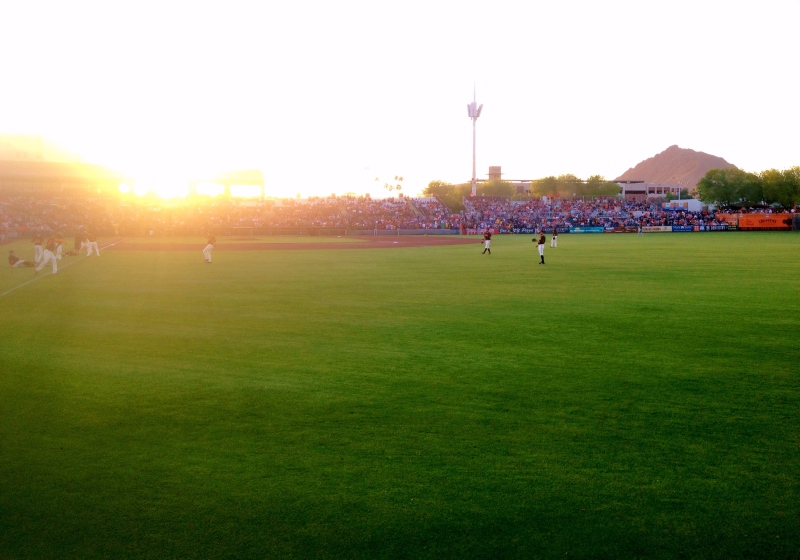 Scottsdale Stadium is the springtime home of the San Francisco Giants.