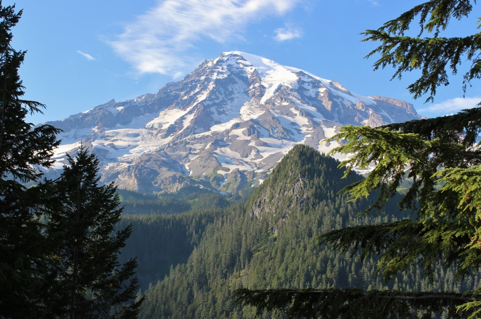 With an elevation of 14,410 feet, Mt. Rainier is the tallest peak in the Cascades.