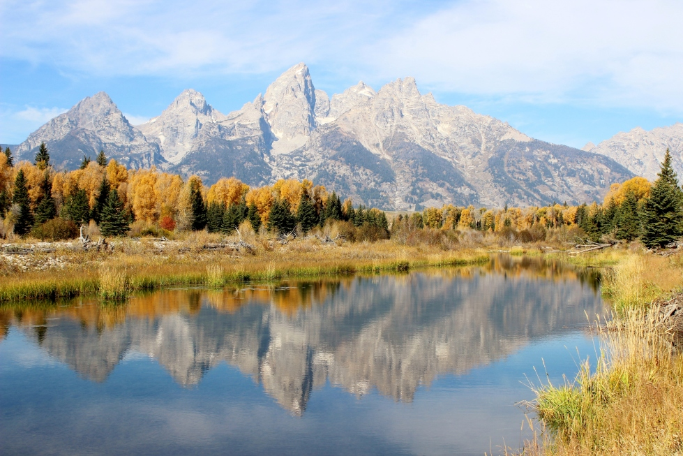 Thanks to an absence of foothills, the Tetons are among the most stunning mountain landscapes in the United States.